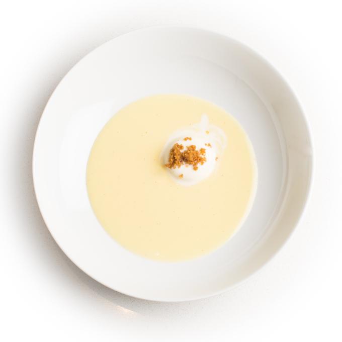 crème anglaise met panacotta
